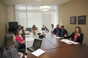 Newly hired employees take part in an orientation program at Community Health Systems.