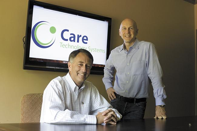 Jim Anderson, left, and Robert Hendrick are president and CEO, respectively, of Care Technology Systems.