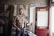 James Green and his wife started Headquarters, a coffee shop along Charlotte Avenue that is set to open in October.
