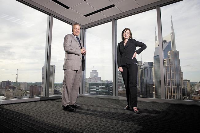 Robert Sartin, left, and Mekesha Montgomery are with the Nashville office of Frost Brown Todd. The law firm plans to expand to 75 attorneys over the next five years, which could make it one of the largest firms in Middle Tennessee.