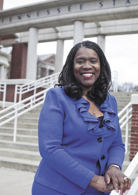Glenda Baskin Glover was recently named president of Tennessee State University, where she also is an alumna.