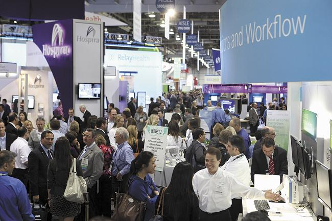 The Healthcare Information and Management Systems Society hosts an annual conference, held in Las Vegas in 2012, to bring together health care technology and equipment companies.