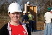 Habitat for Humanity homeowner Casey George helped build her home, along with more than 100 volunteers.