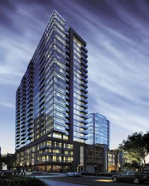JE Dunn Construction Co. will construct this $80 million, 23-story apartment tower in Nashville.