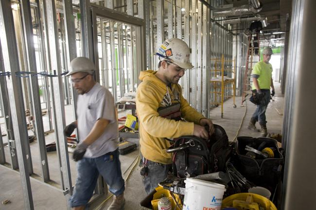 Lee Co. employees work on the Randall and Sadie Baskin Center on the Belmont University campus. The contractor frequently works with inspectors and other government employees, and president Bill Lee said higher performing state workers would benefit economic development.