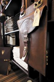 Col. Littleton sells assorted leather products at a retail store in its factory about an hour south of Nashville.