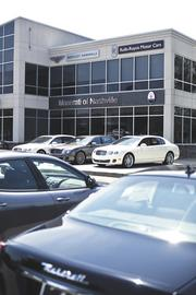 Prices range from $130,000 to $500,000 for the elite cars sold at the Maserati Rolls-Royce Bentley dealership.