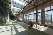 """The Music City Center's """"sun deck"""" is on the seventh floor and will serve as a pre-function space for the Grand Ballroom. Even though the building only has seven floors, its height at its highest point is about 150 feet, which is equivalent to a 15-story building."""