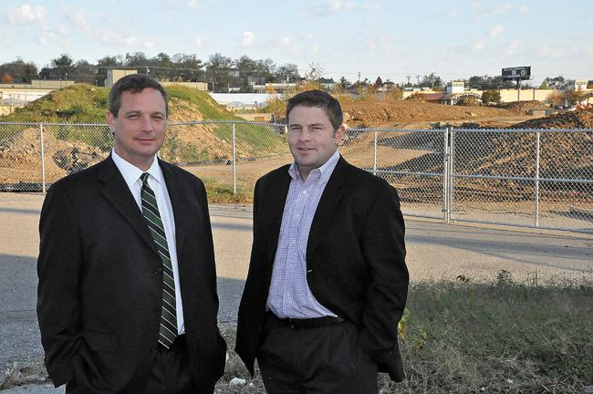 Keith Gregg, left, and Ryan Doyle are part of the development team responsible for the One City project.
