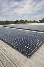 Solar panels at White Bridge Auto Wash.
