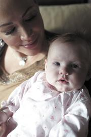 Joanna Montgomery was diagnosed with cancer during an emergency cesarean section during the birth of daughter Magnolia.
