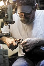 Troy Horner of Peabody Shoe Repair