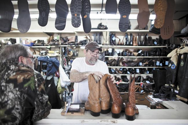 Troy Horner of Peabody Shoe Repair now operates the family business that his parents owned in the 1970s. The shop is moving next year from Hillsboro to 718 Thomspon Lane, where Horner hopes to continue growing the business.