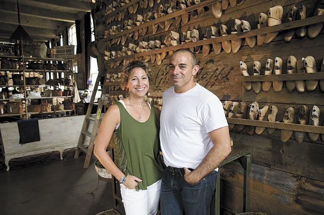 Phillip and Dana Nappi, owners of Peter Nappi, an artisan boot and shoe company, have been featured in several national publications.