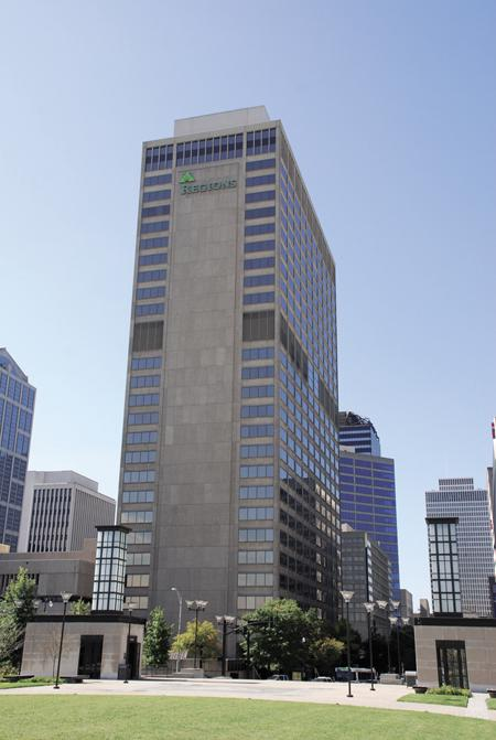 Regions Financial Corp. plans to move its Nashville headquarters from downtown's Regions Center on Deaderick Street, pictured.