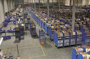 Saks Inc. is one of several large retailers using an automated fulfillment system to fill orders. The system uses robots that efficiently move shelving around the warehouse.