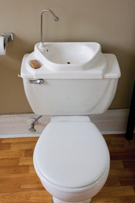Sink Positive sink-toilet combo saves water - Nashville Business ...