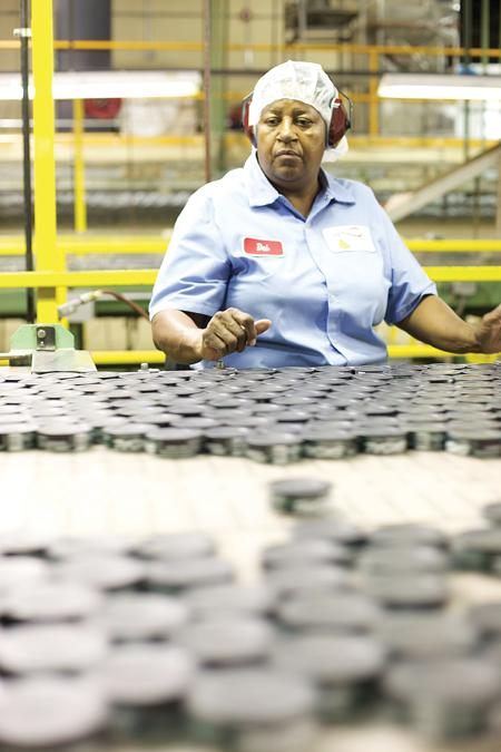 Deborah Webster is one of about 400 employees at U.S. Smokeless Tobacco Co.'s plant in Nashville.