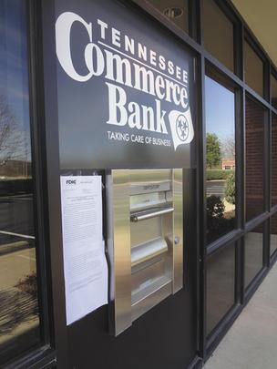 Tennessee Commerce Bank in Franklin was closed Jan. 27.