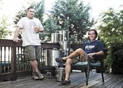 """Christian Spears, left, and Garr Schwartz of Tennessee Brew Works aim to be serving beer by spring 2013. The two men used to work at Lehman Brothers together. """"We were either going to be mortal enemies or drinking buddies,"""" Spears said of their efforts to get things off the ground since 2010."""