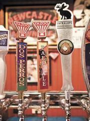 Local Yazoo and Jackalope brews on tap at M.L.Rose Craft Beer and Burgers.