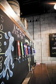 Taps at Turtle Anarchy Brewing Co.'s tasting room in Franklin.