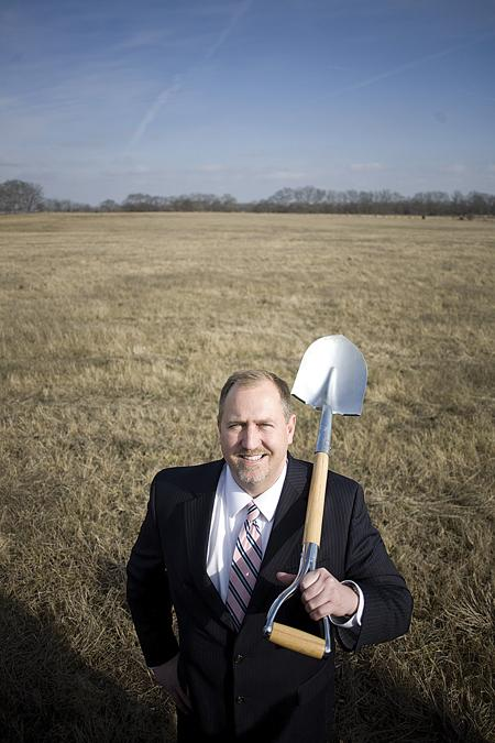 Economic Development Agency Executive Director Clay Walker, on the undeveloped 200 acres of Gallatin Industrial Center.