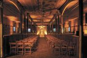 """Stable Hall"" in the Carriage House at Belle Meade Plantation is a popular wedding venue."