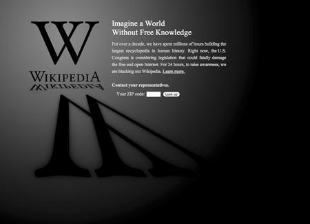 Wikipedia was among a number of the nation's largest websites that protested the pending legislation on Wednesday.