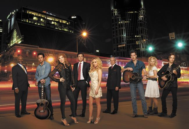 """""""Nashville"""" is set to air on Wednesdays this fall on the ABC television network. It stars Connie Britton, Hayden Panettiere, Powers Boothe and Charles Esten."""