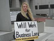 Urbandillo creator Veronica James has taken unique steps to attract funding, including holding a sign in downtown Nashville.