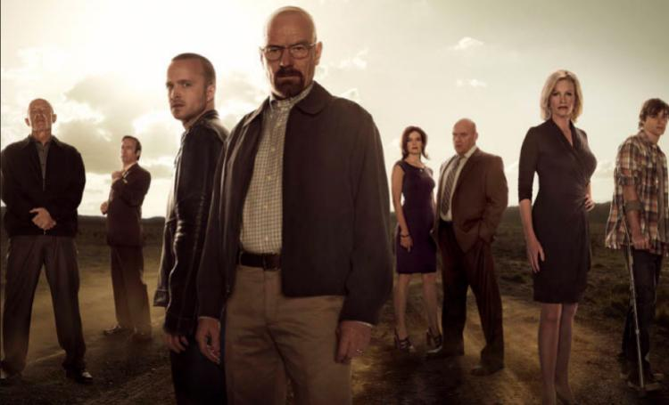 """""""Breaking Bad"""" finally broke through the glass ceiling of the Emmys, bringing home the award for Best Drama."""
