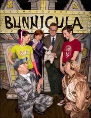 """""""Bunnicula"""" cast members Robert Anthony Jones, from left, Ashley Campana, Erin Maguire, Abe Goldfarb, John Garry and Prescott Seymour gather for a group portrait. The play is in previews for a Feb. 10 opening."""