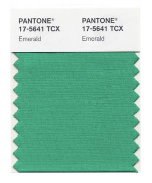 Pantone 17-5641 Emerald has been selected Pantone's 2013 Color of the Year.