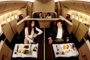 Air China's first-class cabin features eight luxury suites.