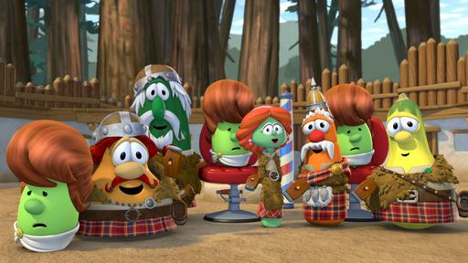 Larry the Cucumber and friends will be featured in new VeggieTales apps to be developed by Cupcake Digital.