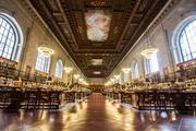 The Rose Reading Room of the New York Public Library is shown in this undated handout photo released to the media on Dec. 18, 2012. One of the most famous rooms in New York City, it offers readers access to millions of books now located in stacks underneath.