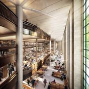 A view of a planned circulating library that will be brought into the main building of the New York Public Library is shown in this undated handout photo released to the media on Dec. 18, 2012. Its four levels will occupy space now used for book stacks and will look across Bryant Park through an atrium.