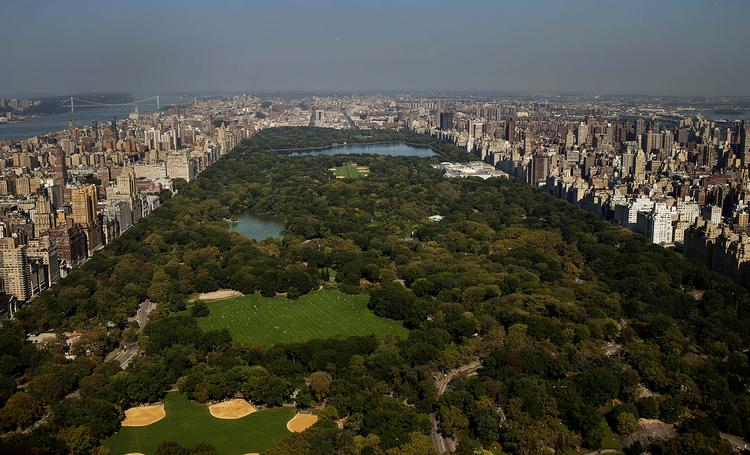 Central Park, as viewed from the 86th floor of the under-construction One57 residential building.