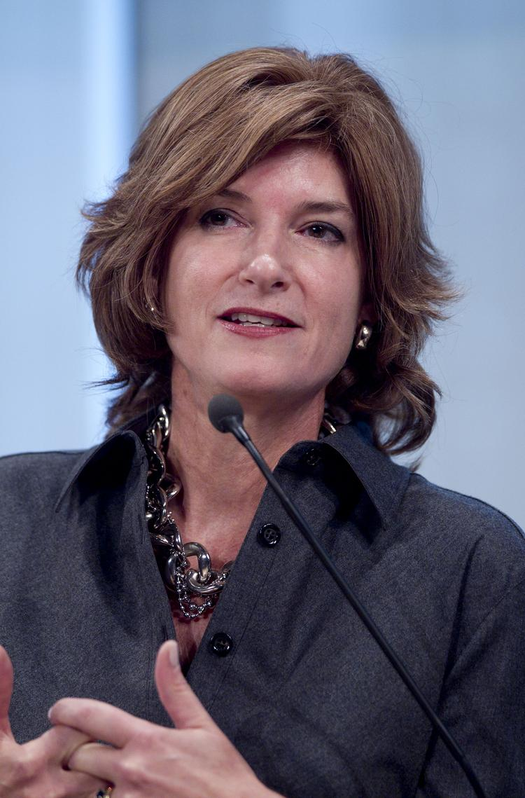 Laura Lang, Time Inc. chief executive officer, speaking during a 2010 conference, before she joined the company.