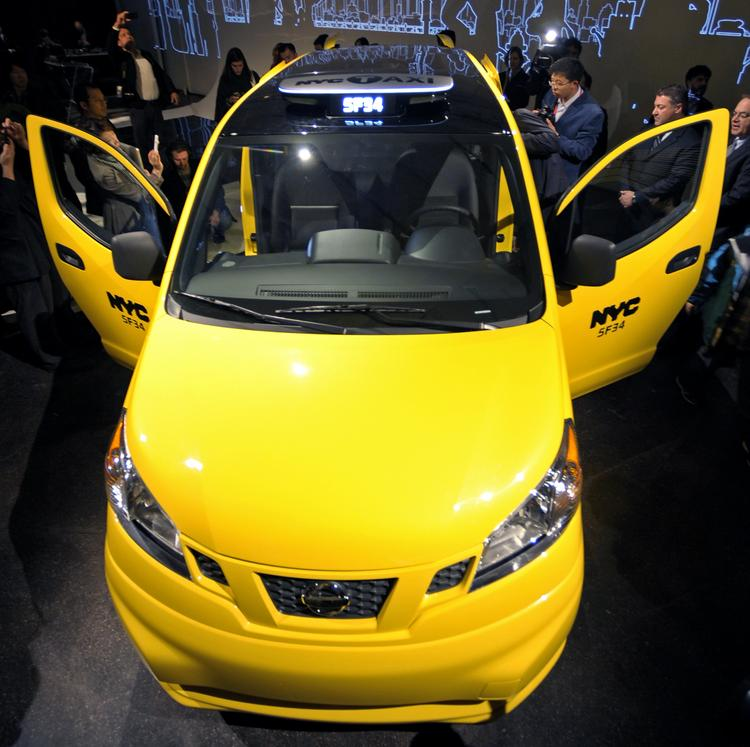 """The """"Taxi of Tomorrow's"""" panoramic roof will not allow the traditional rooftop advertisements that have become both iconic and a valuable revenue source."""