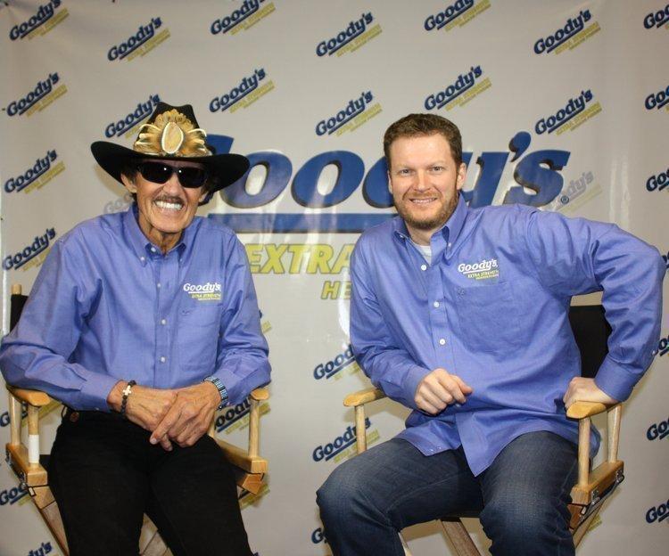 Dale Earnhardt Jr. is joining Richard Petty as a spokesman for Goody's headache powder.