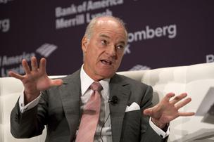 Henry Kravis, co-chairman and co-chief executive officer of KKR Management LLC, speaks at the Bloomberg Dealmakers Summit in New York, U.S., on Tuesday, Sept. 27, 2011.
