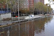 Flooding caused by Superstorm Sandy in New York.
