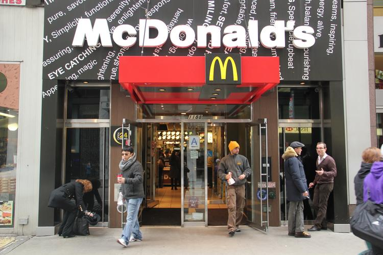 "This Manhattan McDonald's seemed no worse for the wear after this morning's ""strike"" by fast-food workers at several businesses."