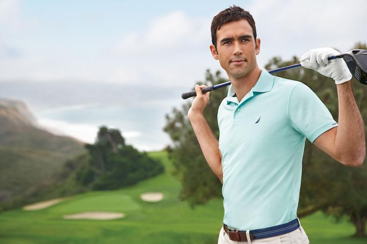 PGA Tour player Cameron Tringale wore Nautica clothing while competing at the Sony Open in Honolulu in January.