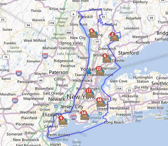 Con Edison said more than 65,000 customers are without power so far as Hurricane Sandy travels across the area.