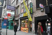 It was business as usual at this Subway despite a morning strike by fast-food workers.