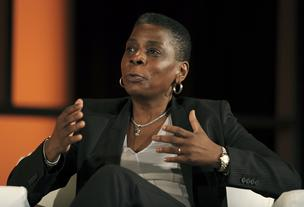Ursula Burns, chief executive officer of Xerox Corp., speaks at the World Business Forum in New York, U.S., on Wednesday, Oct. 3, 2012.