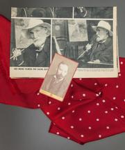 A red polka-dot silk scarf owned by Renoir.